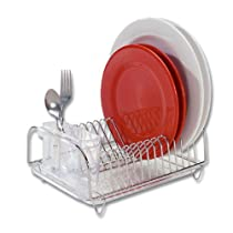 Compact Dish-Drainer Set Stainless