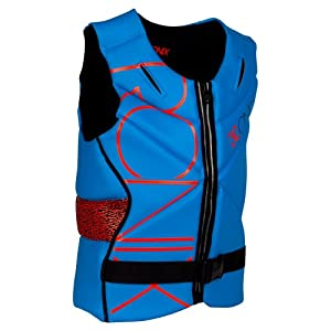 Ronix 2013 One L.E.D. Front Zip Impact Jacket (Azure Caffeinated Red) Life Jacket by Ronix