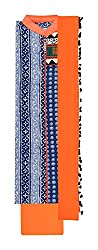 Mayura Women's Cotton Unstitched Salwar Suit (Blue and Orange)