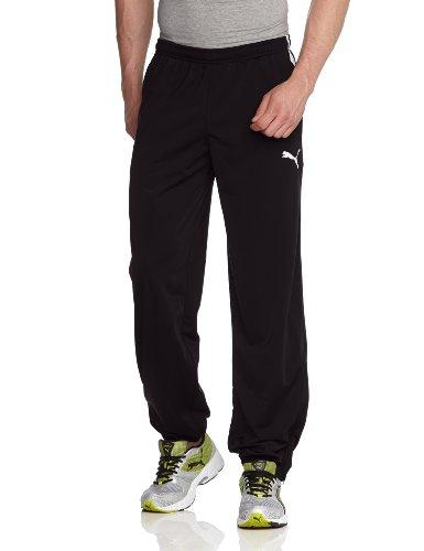 PUMA, Pantalone da presentazione Uomo Spirit Poly Pantaloni W Zipped Leg Opening, Nero (Black/white), M