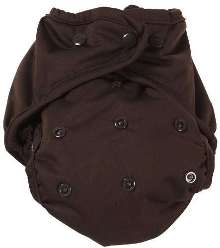 Marvels One Size Diaper Cover, Chocolate Brown front-10490