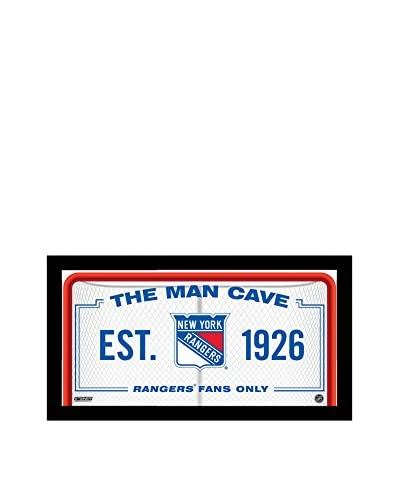 Steiner Sports Memorabilia New York Rangers Man Cave Sign, 10 x 20