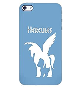 PrintDhaba HERCULES HORSE D-6476 Back Case Cover for APPLE IPHONE 5 (Multi-Coloured)