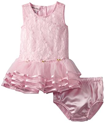 Little Lass Baby-girls Infant 1 Piece Knit Dress, Pink, 12 Months