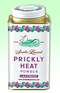 3x Prickly Heat Powder Snake Brand Cooling Lavender 300 G. Free Shipping Made From Thailand