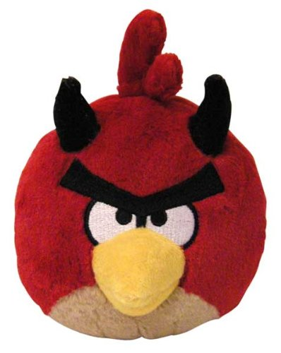 Angry Birds Seasons 5 inch Halloween Devil Red Bird No Sound Plush (Angry Birds Seasons Toys compare prices)