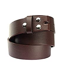 NYfashion101 Exclusive Genuine Leather Snap On Belt For Removable Buckles