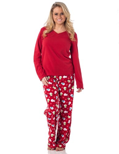 Alki'i Women's Winter Fleece Lounge Pajama Set