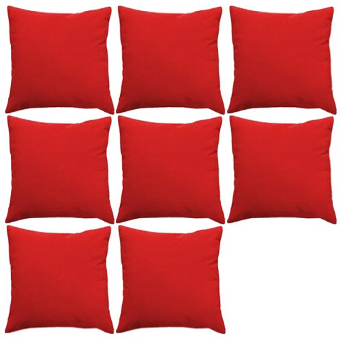 Wasserfestes Kissen Outdoor Gefüllt 61cm Kissen in Rot – 8er Packung bestellen