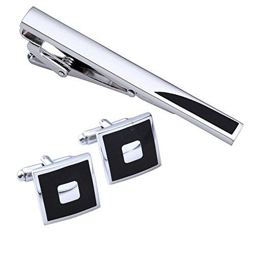 PiercingJ-3pcs-Mens-Stainless-Steel-Exquisite-GQ-Cufflink-and-Tie-Clip-Set