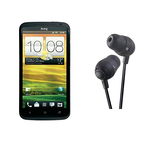 HTC One X 16GB Unlocked GSM Phone with Android 4.0 OS, Audio Beats, Super IPS LCD2 Touchscreen, 8MP Camera, GPS, Wi-Fi and Bluetooth (Gray) and JVC HAFX32B Marshmallow Earbud (Black)