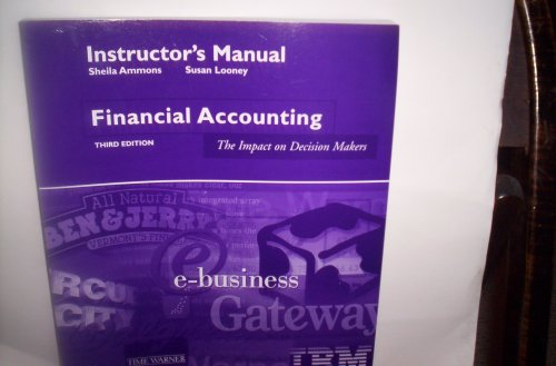 Instructor's Manual Financial Accounting: The Impact on Decision Makers