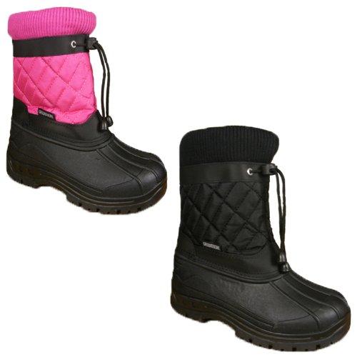 Kids Boys Girls Waterproof Sole Quilted Winter Fleece Lined Snow Rain Wellies Mucker Boots Size UK 6-2
