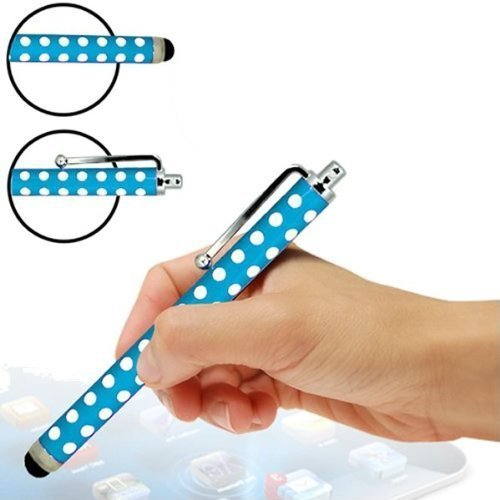 Sleek Gadgets Premium Edition ®, Blau mit Weißen Punkten, Stylus Pen mit Weicher Gummispitze für Samsung Galaxy Tab 3 7.0 P3210/SM/T210