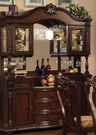 Cheap Anondale Brown Cherry Buffet and Hutch by Acme (10299B)