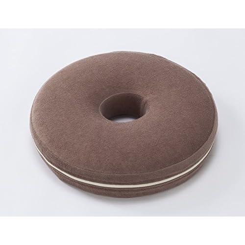 Storage-style/快適生活 低反発円座クッション モカブラウン 優しい座り心地 カバーは取り外して洗えます