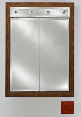 Signature Double Door Medicine Cabinet Lights Finish: Arlington Cherry, Size: 31