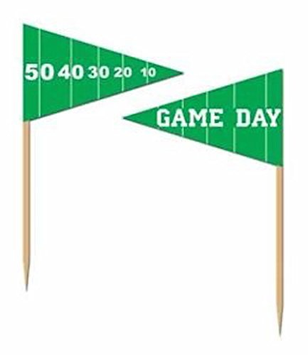 50 football Party Food Picks Game Day (Patriots Party Supplies)