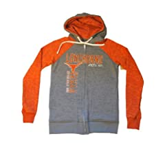 Texas Longhorns Blue 84 Women Gray Orange Full-Zip Hooded LS Sweatshirt (XL) by Blue 84