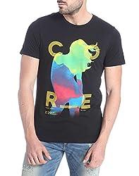 Jack & Jones Mens Casual T-Shirt (5712836874834_Black_Large)