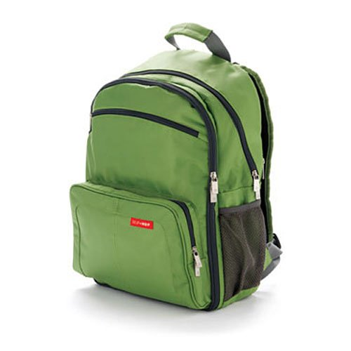 skip hop via backpack diaper bag green designer nappy bags. Black Bedroom Furniture Sets. Home Design Ideas