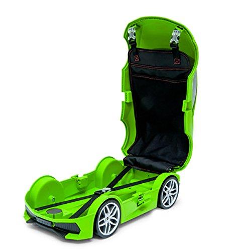 ランボルギーニ ウラカン(Lamborghini Huracan)子供用キャリーケース おもちゃ箱にも兼用して使用可能 12L (グリーン)
