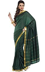 BANGALORE DUPIAN AND FLORAL SILK SAREE COLLECTIONS-DarkGreen-POSB1335B-VN-Art Silk Silk-DarkGreen-POSB1335B-VN-Art Silk Silk
