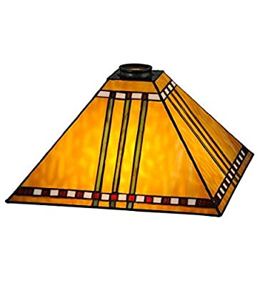 Meyda Tiffany 28592 Prairie Corn Lamp Shade, 13 sq. in.