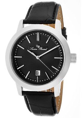 Lucien Piccard Men's 11572-01 Tosa Black Textured Dial Watch
