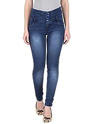 NGT Women's High Waist Royal Blue Jeans