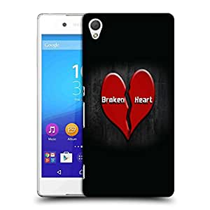 Snoogg Broken Heart Designer Protective Back Case Cover For SONY Z4 COMPACT
