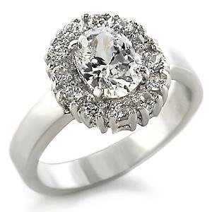 1.25 Carats AAA Grade CZ Platinum Tone Anniverysary Ring Size (9)