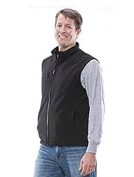 RefrigiWear Men\'s Softshell Non Insulated Vest Black XL