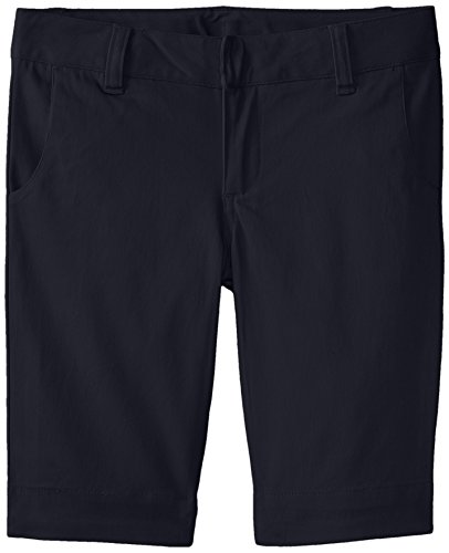 Lee Uniforms Big Girls' Stretch Twill Bermuda Short, Navy, 14
