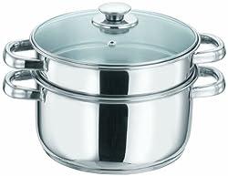 Vinod Cookware 2 Tier Steamer, 20cm