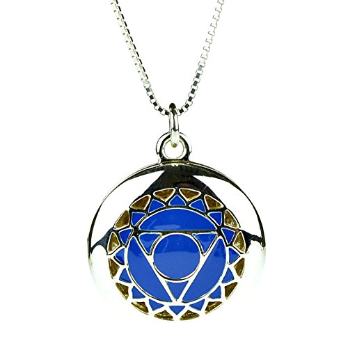 925 Sterling Silver  4th Heart Yoga Seven Chakra Aromatherapy Essential Oil Diffuser Locket Necklace & 5 refill pads