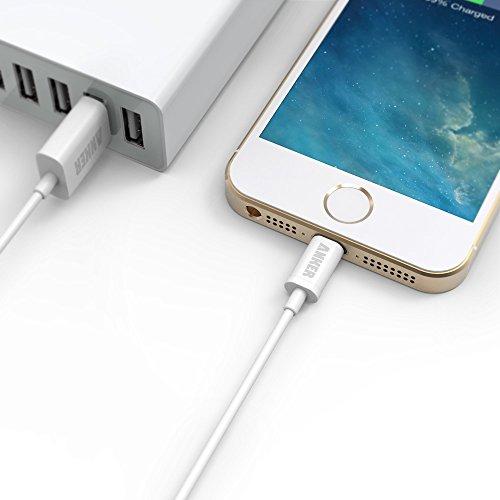 【2本セット Apple認証 (Made for iPhone取得)】 Anker プレミアムライトニングUSBケーブル iPhone 6s Plus / iPhone 6 / 5 / 5C / 5S / iPad Air / iPad Air2/ iPad mini / iPad mini2 / iPad mini3 用 (白 2本 0.9m)