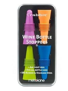 Metrokane 6121 Rabbit Wine Beverage Bottle Stoppers