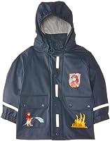 Playshoes Jungen Regenmantel 408590 Jacke Feuerwehr mit Reflektoren, Oeko-Tex Standard 100