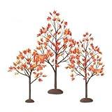 Department 56 Village Autumn Maple Trees, Set of 3