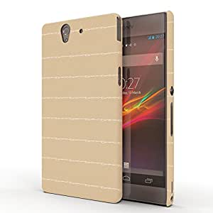 Koveru Back Cover Case for SONY XPERIA Z - Brown fencing