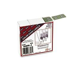Smead BA300RN Color-Coded Numeric Label, 8, Label Roll, Gray, 500 labels per Roll (66708)