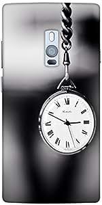 Snoogg Vintage Pocket Clock Designer Protective Back Case Cover For One Plus Two