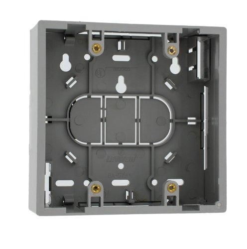 Leviton 42777-2Ga Surface Mount Backbox, Dual Gang, Grey, Box Depth Is 1.89 Inches