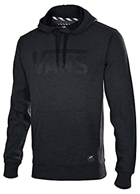 Vans Mens Classic Pull Over Grey Black Lettering Sweater