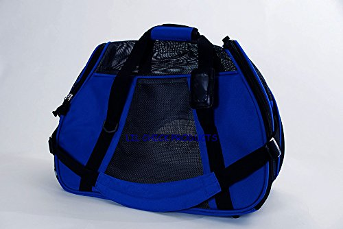 LIL Chick Products (Tm) Royal Blue Soft Sided Pet Carrier, Airlines Pet Carrier, Airport Pet Carrier, Pet Travel
