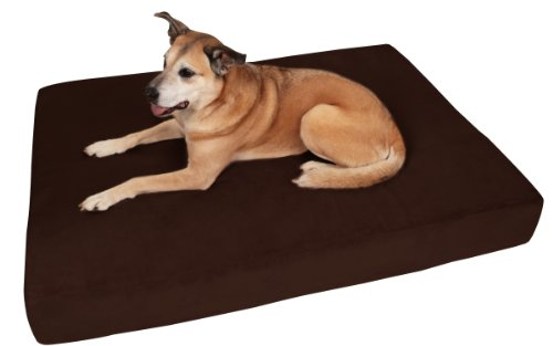 """Big Barker 7"""" Pillow Top Orthopedic Dog Bed - XL Size - 52 X 36 X 7 - Chocolate - For Large and Extra Large Breed Dogs (Sleek Edition)"""