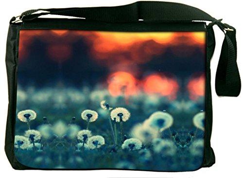 Snoogg Snoogg Dandelions At Sunset Computer Padded Compartment Carrying Case Laptop Notebook Shoulder Messenger Bag (Orange)