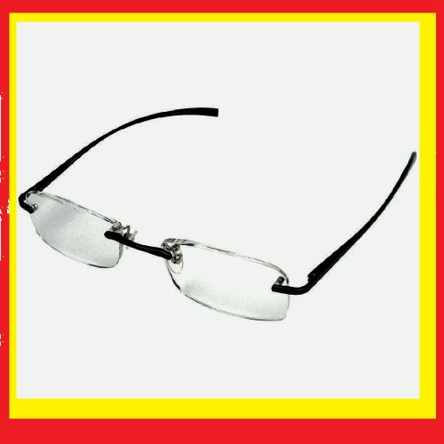 Rimless Glasses Durability : Reading Glasses: 2.25 Strength Foster Grant Rimless ...