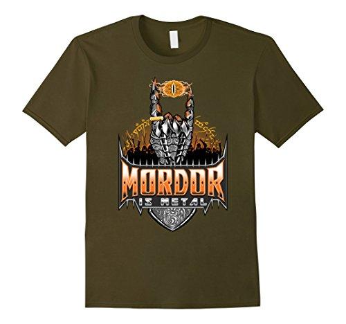 Men's Mordor is Metal Shirt | Fantasy T-shirt Large Olive